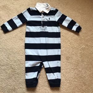 9 month Ralph Lauren Coverall boy outfit